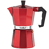 VonShef 6 Cup Espresso Coffee Maker - Red