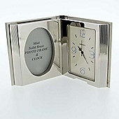 Imperial Clocks Open Book Clock - Chrome