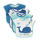 Mothercare Towelling Whale Bibs- 4 Pack
