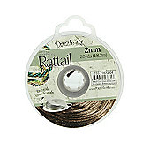 Rattail with Re-Useable Bobbin - Espresso - 20yds