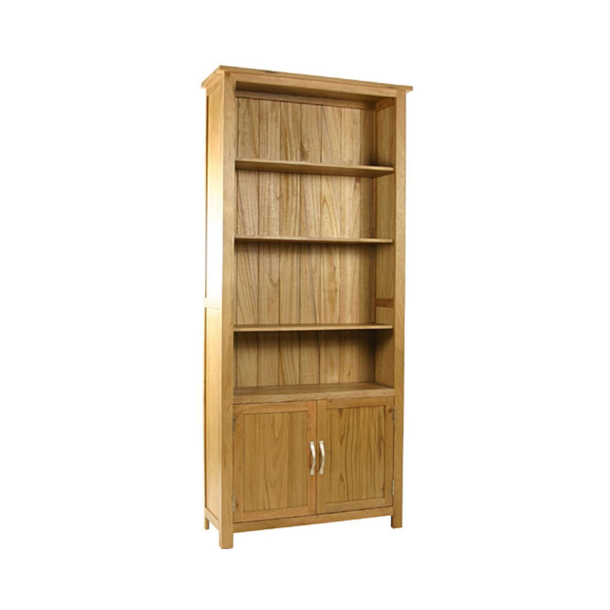Kelburn Furniture Essentials Cupboard Bookcase in Light Oak Stain and Satin Lacquer at Tesco Direct