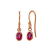 QP Jewellers 1.0ct Pink Topaz Allure Hook Earrings in 14K Rose Gold