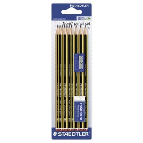 Staedtler 10 HB Noris Pencils With Eraser & Sharpener