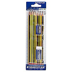 Staedtler 10 HB Noris Pencils With Eraser & Sharpener