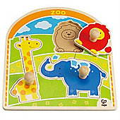 Hape At the Zoo Animals Knob Puzzle