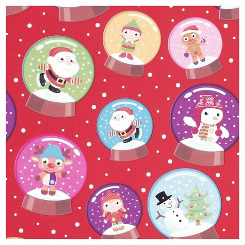 Tesco Chilly Christmas Wrapping Paper, 10m