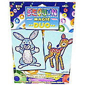 Sequin Magic Duo Bunny And Fawn