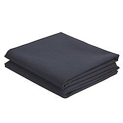 Cotton Rich Pillowcase Twinpack - Black