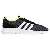 adidas NEO Lite Racer Mens Fashion Trainer Shoe Black/Grey - Black