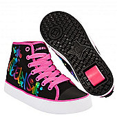Heelys Veloz Black/Rainbow Metallic Kids Heely Shoe - Blue