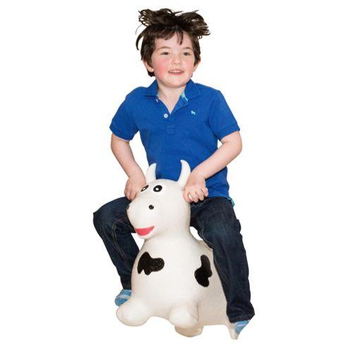 Happy Hopperz White Bull Bouncing Animal