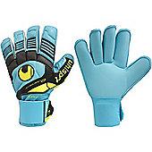 Uhlsport Eliminator Soft Roll Finger Comp Junior Goalkeeper Gloves - Blue