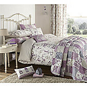 Dreams n Drapes Lila Natural 66x72 inches (168x183cm) Lined Curtains - Lilac