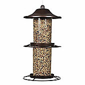 Perky Pet Copper Metal Two Tier Panorama Wild Bird Feeder