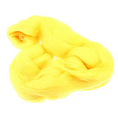 DHF-R04 Bright Yellow 20g Falkland Wool Tops