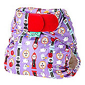 TotsBots Stretchy Wrap Hickory Nappy Cover (Size 2)