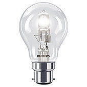Philips EcoClassic Dimmable Halogen Traditional Light Bulb (70W B22 A55)