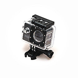 Sports Cam HD Action Camera 720p with 1.5 Screen and Waterproof Case (30m) + 6 mounting accessories