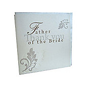 Shabby Chic Father of the Bride Wedding Thank You Card