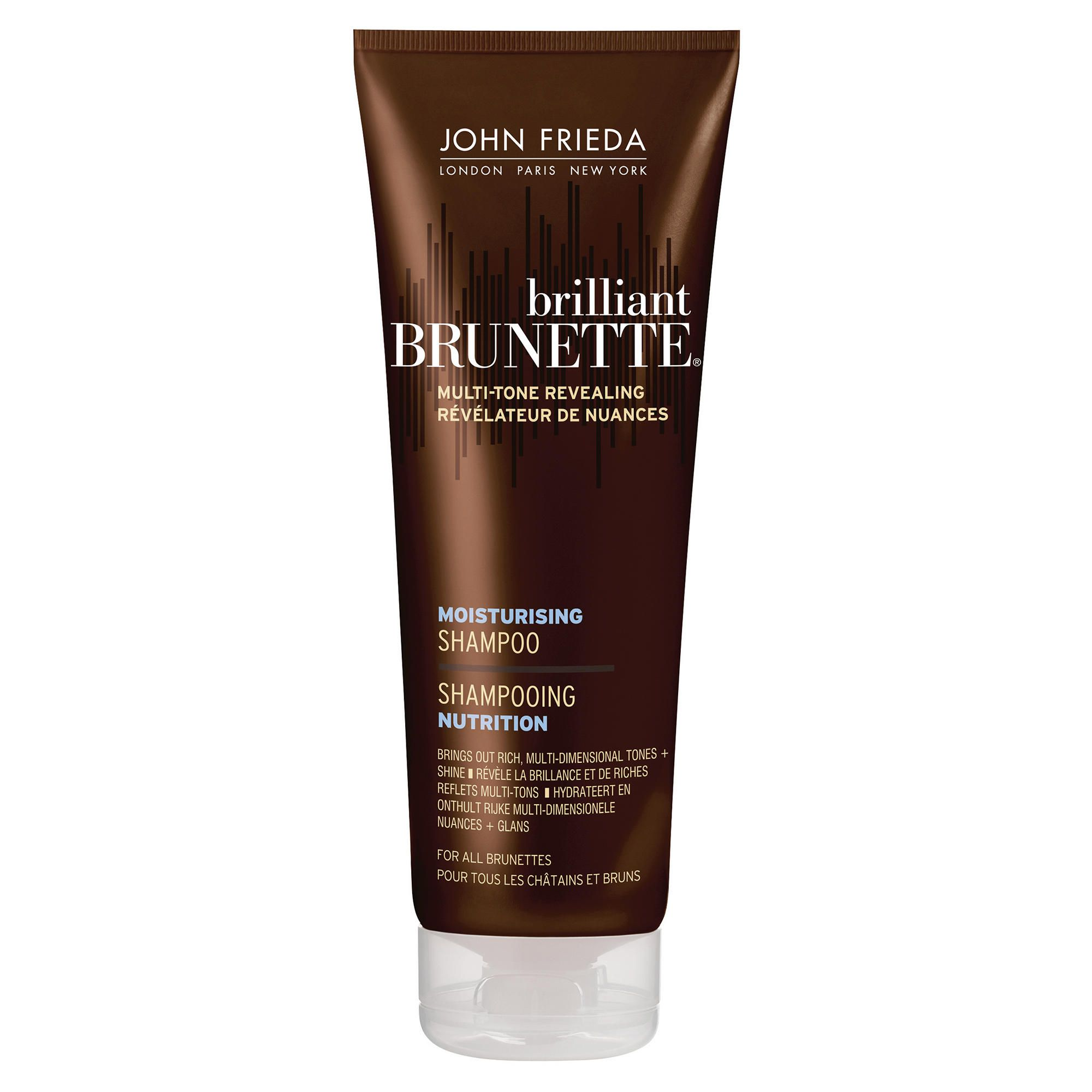 John Frieda Brilliant Brunette Moisturising Shampoo for All Brunettes Shades 250ml