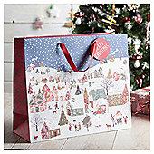 Landscape Scene Christmas Gift Bag, Extra Large