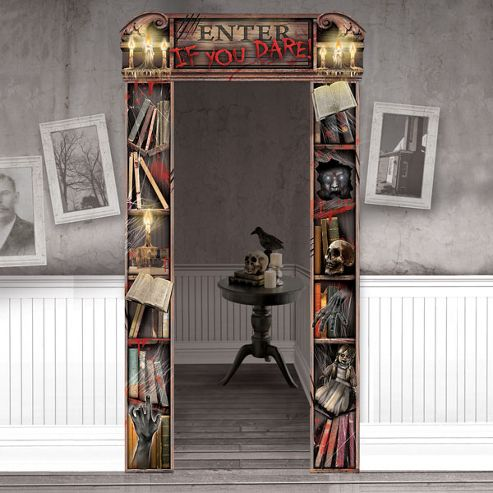 Buy Halloween Decorations Deluxe Haunted Mansion Doorway