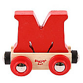 Bigjigs Rail Rail Name Letter M (Red)