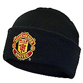 Manchester United FC Knitted Hat - Black