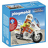 Playmobil 5544 City Action Emergency Motorcycle with Light