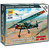 Zvezda 6184 Henschel 126B Wwii 1:144 Aircraft Snap Fit Model Kit