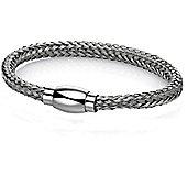 Fred Bennet Grey Steel Weave Bracelet