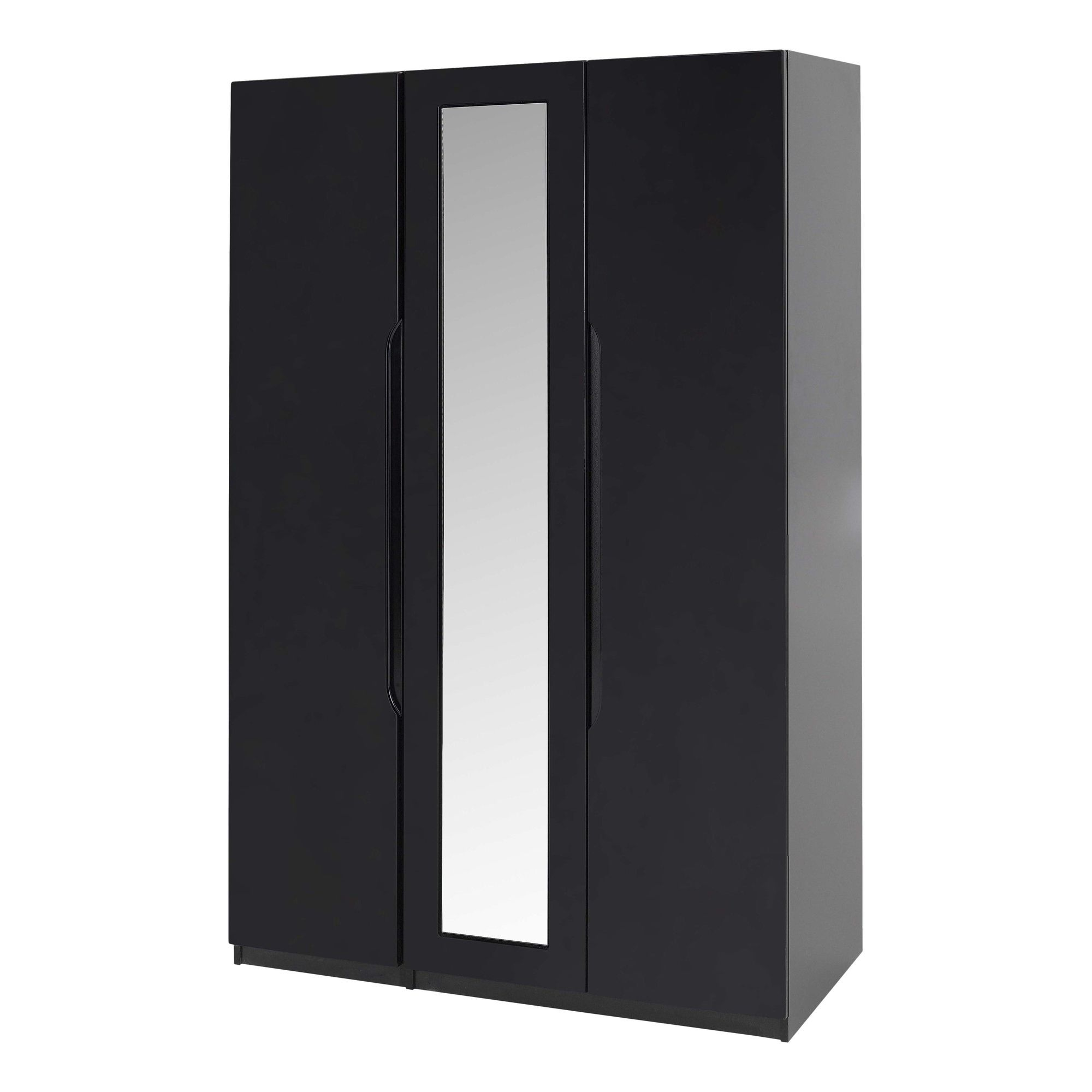 Alto Furniture Visualise Orient Three Door Wardrobe in High Gloss Black at Tesco Direct