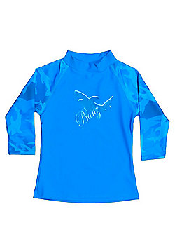 Banz 'Fin Frenzy' Long Sleeved UV Rash Top - Blue - Blue