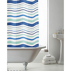 PEVA Shower Curtain Striped