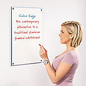 Write-On Write-On Coloured Edged Whiteboards - Blue - 60 cm H x 90 cm W