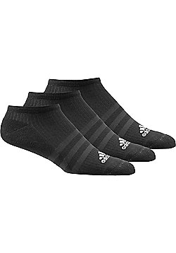 adidas Performance No Show Trainer Socks 3 pack Black - Black