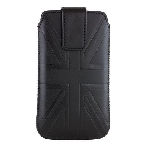 Trendz Universal Slip Case Pouch for Smartphone - Black Union Jack