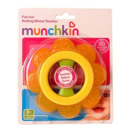 Munchkin Rolling Wheel Teether Yellow and Orange