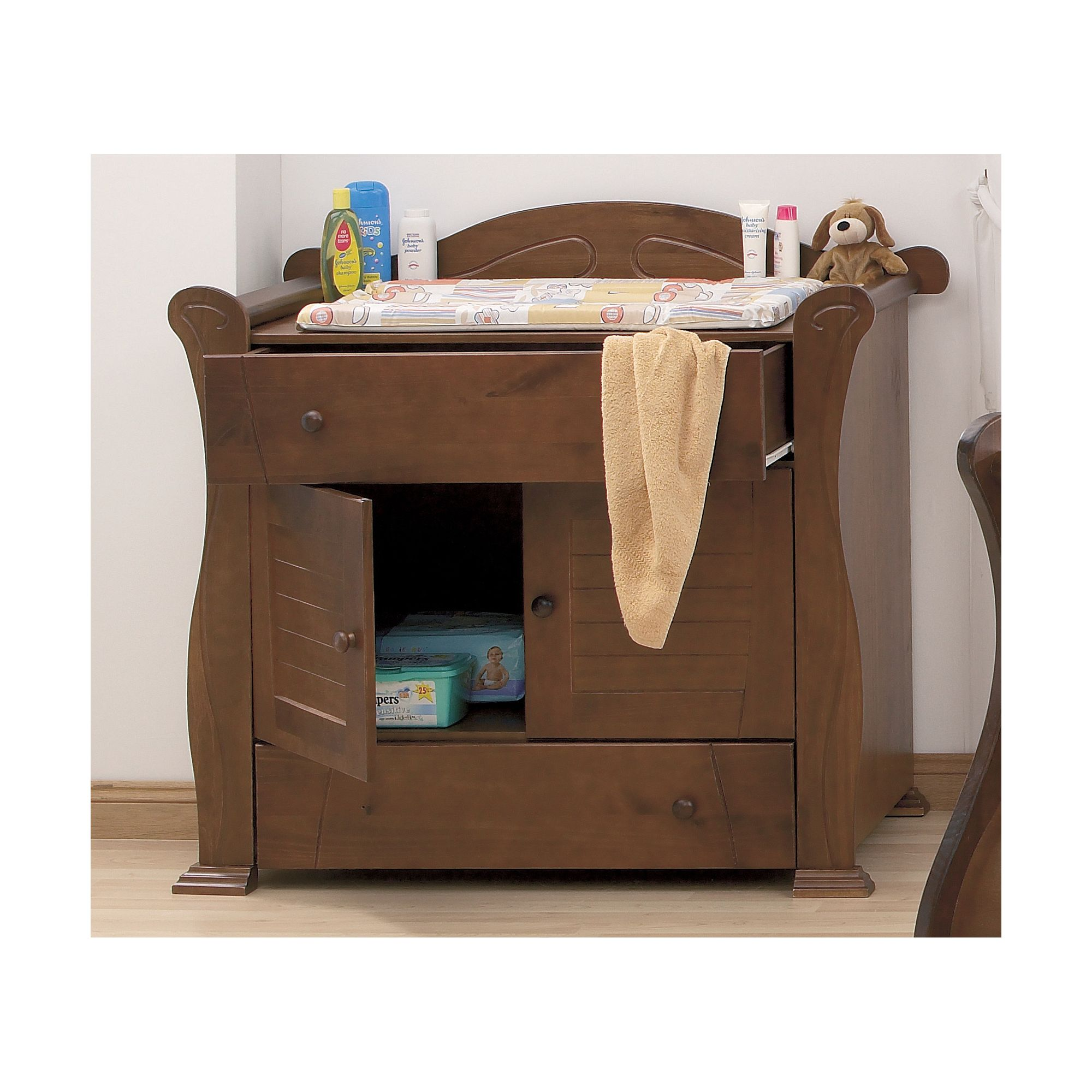 Tutti Bambini Marie Chest Changer in Walnut at Tesco Direct