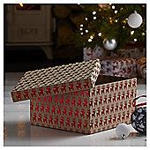 Large Kraft Reindeer Box