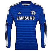 2014-15 Chelsea Adidas Home Long Sleeve Shirt (Kids) - Blue