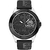 Marc Ecko Mens Black Rubber Strap Watch E09520G3