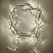 150 Warm White LED Connectable 15m Outdoor String Lights on White Cable