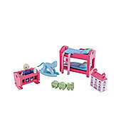 Rosebud Village Wooden House Children's Bedroom Set