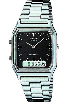 Casio Classic Unisex Stainless Steel Chronograph, Alarm Watch AQ-230A-1DMQYES