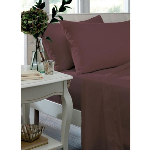 Catherine Lansfield Claret Fitted Sheet - Single