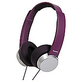 Panasonic RPHD3W Overhead Headphones Purple