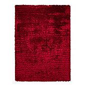 Esprit New Glamour Red Shag Rug - 140cm x 200cm