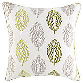 Leaf Print Cushion 43 x 43cm, Green