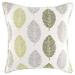 Leaf Print Cushion 43 x 43cm, Green